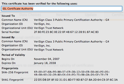 An overview of cryptography figure 6 verisign class 3 certificate fandeluxe Image collections